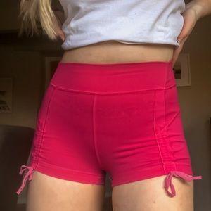 Pink tie lululemon shorts